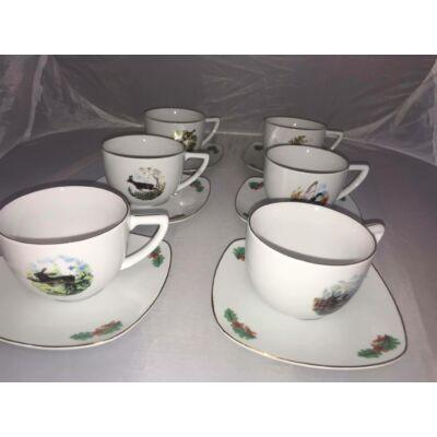 Porcelán csésze készlet 6 db