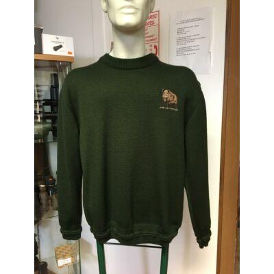 Merlin, kötött, környakas pulóver M