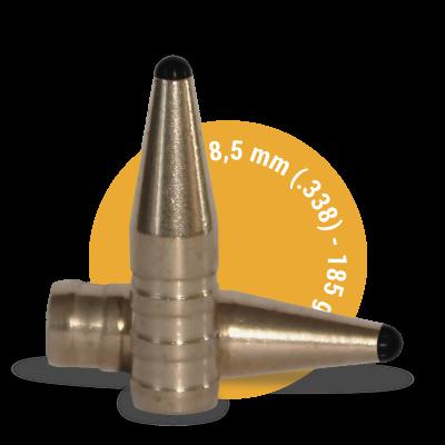 Lövedék 8,5mm (.338) FOX Classic Hunter 185grs