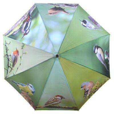 Esernyő kerti madarak mintával